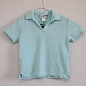 Pendleton Womens Sz P Blue Short Sleeve Polo